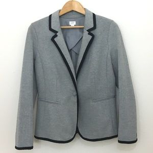 crown & ivy gray and black fitted blazer size 8